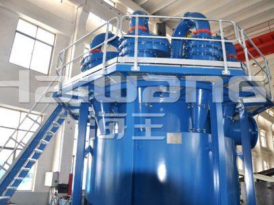 Los hidrociclones de la mina metalúrgica